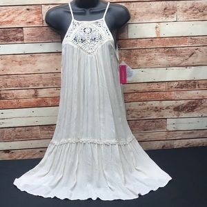 Xhilaration cream dress lined medium NWT Hg915